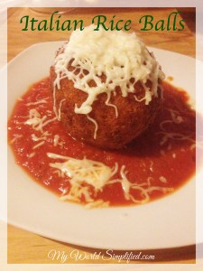 #SundaySupper Italian Rice Balls