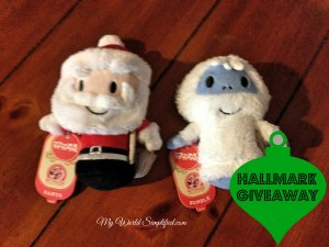 Hallmark Santa and Bumble Itty Bitty Giveaway