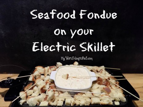 Seafood fondue on skillet