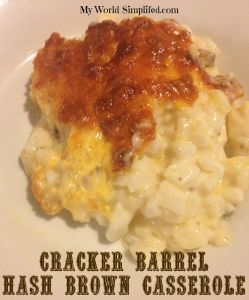 Cracker Barrel Hash Brown Casserole #Recipe