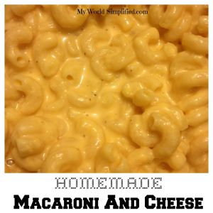 Homemade Macaroni and Cheese #Recipe