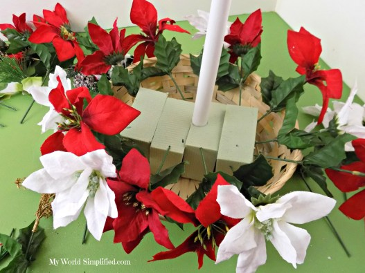Poinsettia Table Decoration Christmas
