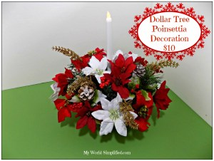 Dollar Tree Poinsettia Decoration