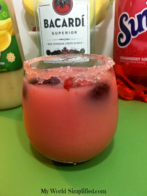 Strawberry Banana Rum Drink