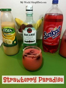 Strawberry Paradise Cocktail Mocktail Recipe