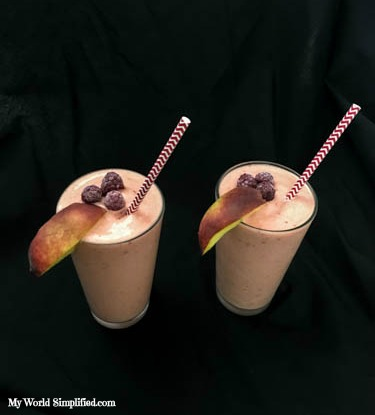 Peach Melba Smoothie-2