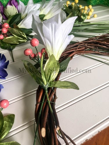 Dollar Tree Spring Wreath-4