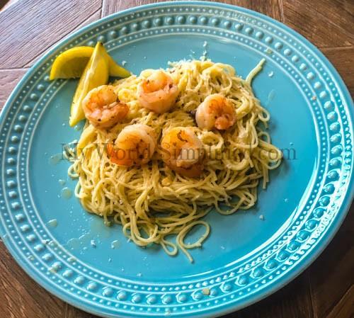 Moscato Shrimp Scampi #SundaySupper