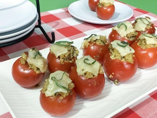 Pancetta & Mushroom Tomato Bites Appetizer