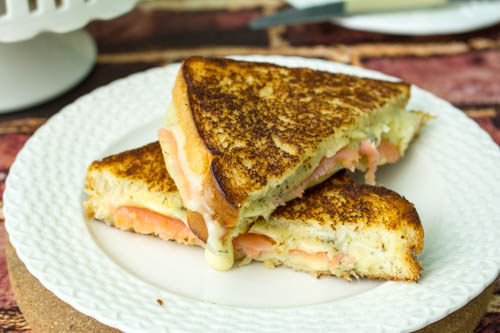 Gourmet Grilled Dill Havarti and Salmon Sandwich #SundaySupper