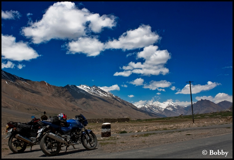 The bikes, resting at 12000+ feet!