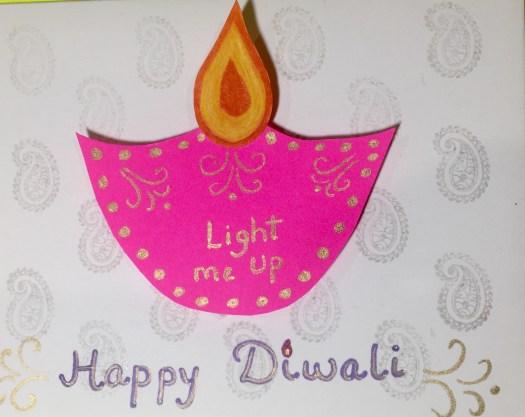 Paper Circuit Light Up Diwali Greeting Card