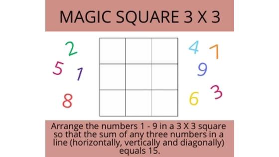 magic square 3 x3