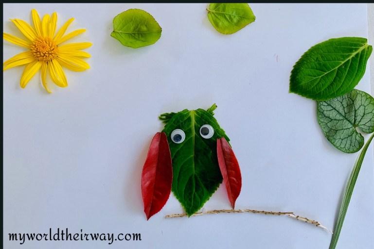owl leaf art