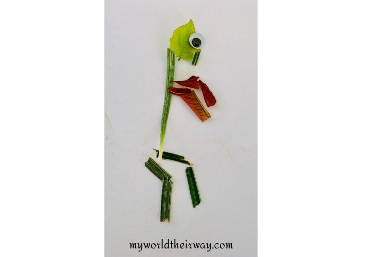 praying mantis leaf art