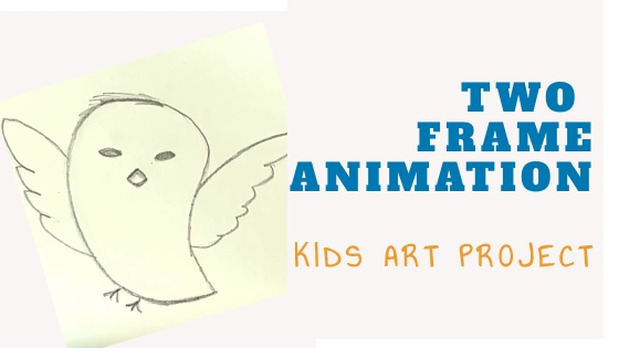 Two frame animation art project for kids