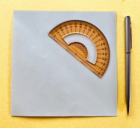 paper protractor material