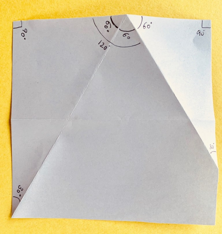 The 120 degree angle - paper protractor