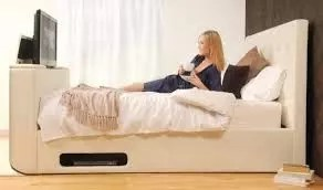 AN ELECTRICAL BED COMBINED WITH TELEVISION AND PHONE CHARGER INVENTED BY A CARPENTER 1