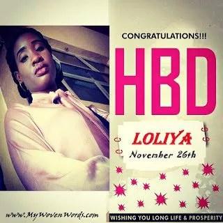HAPPY BIRTHDAY, LOLIYA! 1