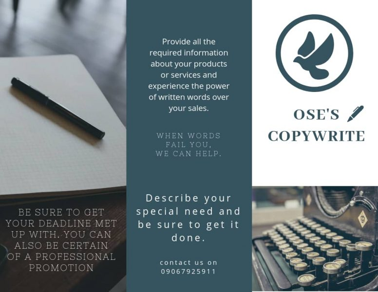 OSE'S COPYWRITING SERVICES