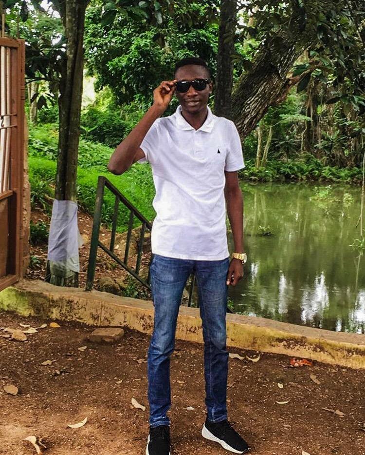 Johnson at Sogidi Lake, Awe Oyo state