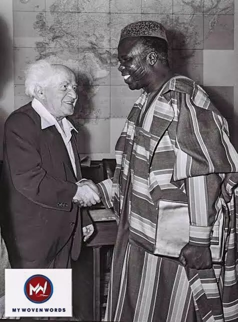 Samuel Akíntọ́lá with David Ben-Gurion during a visit to Israel in 1961