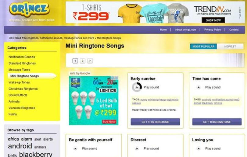 Oringz.com ringtones download
