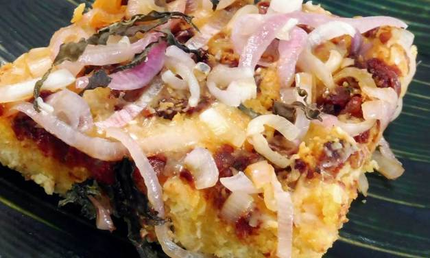 Tomato Shallot & Basil Focaccia Bread