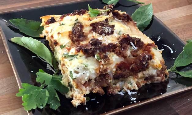 Vegetarian Bolognese Lasagna