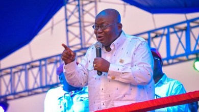 Photo of Akufo-Addo campaign speeches suggests clearly that he is afraid of John Mahama