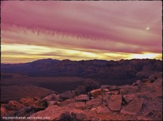 And looking back towards Red Rock Canyon. This side featured the crazy pink skies.