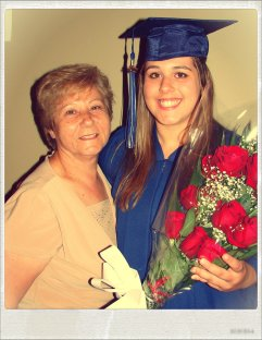 Baba (Grandma) with Amanda at HIgh School Graduation