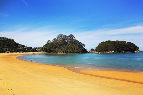 The beach at Abel Tasman National Park