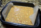 Pour caramel layer first