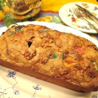 Not Your Grandmother's Banana Bread with M&Ms, Nuts & a Smidge of Peanut Butter