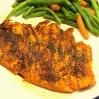 Herbed Blackened Salmon Fillets