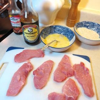 Crispy Sesame Pork with Mixed Greens, Cherry Tomatoes & Teriyaki Salad Dressing - myyellowfarmhouse.com