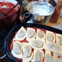 6 - Mushroom Ravioli Lasagna - My Yellow Farmhouse 011