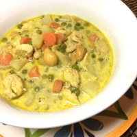 Indian-Inspired Chicken Stew - - Mildly Flavored with Cardamom, Coriander etc.