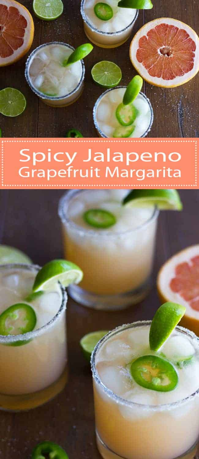 These Jalapeno Grapefruit Margaritas are amazingly delicious and super simple to make!