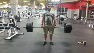 Greg deadlifts 500 in early February,