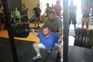 Greg hits parallel in a squat.