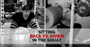 Sitting Back vs. Down in the Squat:  Much Ado About Very Little