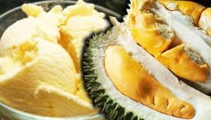 aiskrim durian, gambar aiskrim durian,
