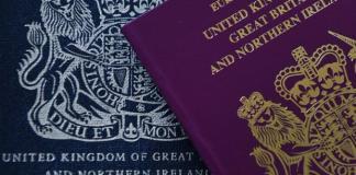 UK blue passports