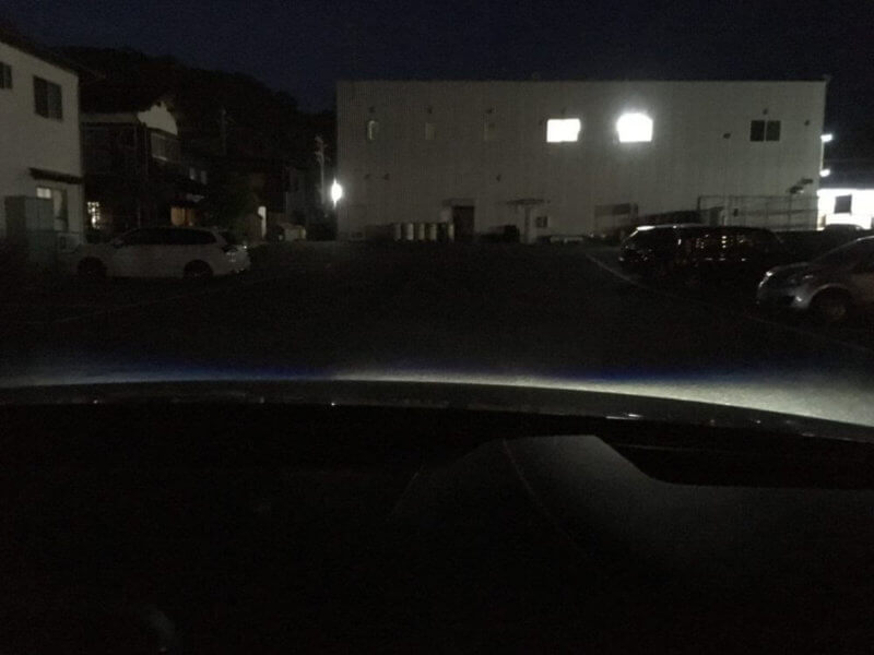運転席からみたフォグランプの照射範囲