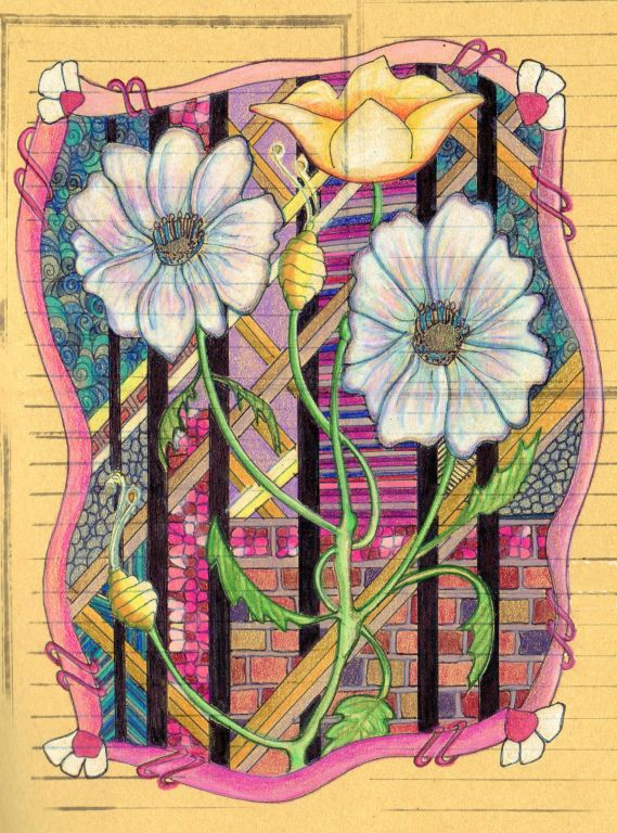 May 2019 Art Challenge How To Draw Tangle Inspired Florals In