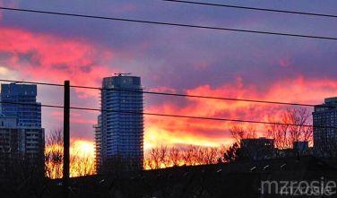 Fiery Sky - Toronto, April 12, 2016