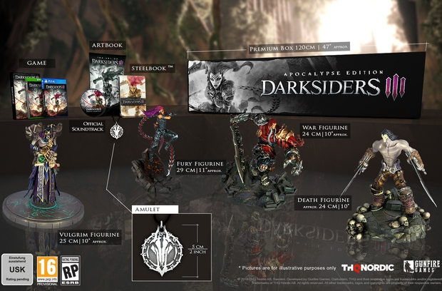 Darksiders 3 Edition Apocalypse Avec 4 Figurines Pour Le
